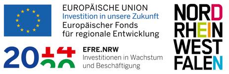 Dieses Projekt wurde gefördert aus dem Europäischen Fonds für regionale Entwicklung und mit Mitteln des Landes NRW.