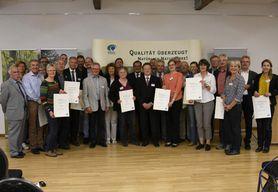 Auszeichnung im Rahmen der Qualitätsoffensive Naturparke 2017