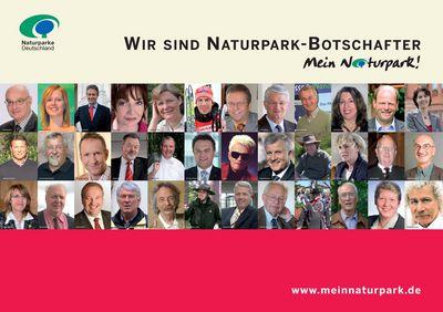 Plakat mit Naturpark-Botschaftern