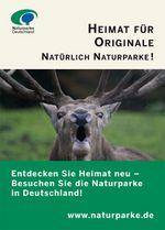 Anzeigenmotiv Heimat für Originale: Auf dem Bild ist ein röhrender Hirsch mit großem Geweih zu sehen.