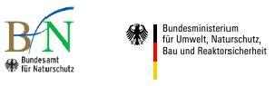 Zu sehen sind die Logos von Bundesamt für Naturschutz und Bundesministerium für Umwelt, Naturschutz und nukleare Sicherheit