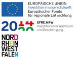 """Logo """"Europäischer Fonds für regionale Entwicklung und Land Nordrhein-Westfalen"""""""